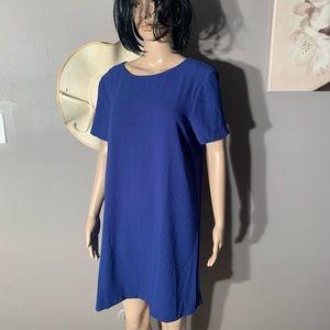 "Bobeau Size M Blue Casual Dress Length 35"""